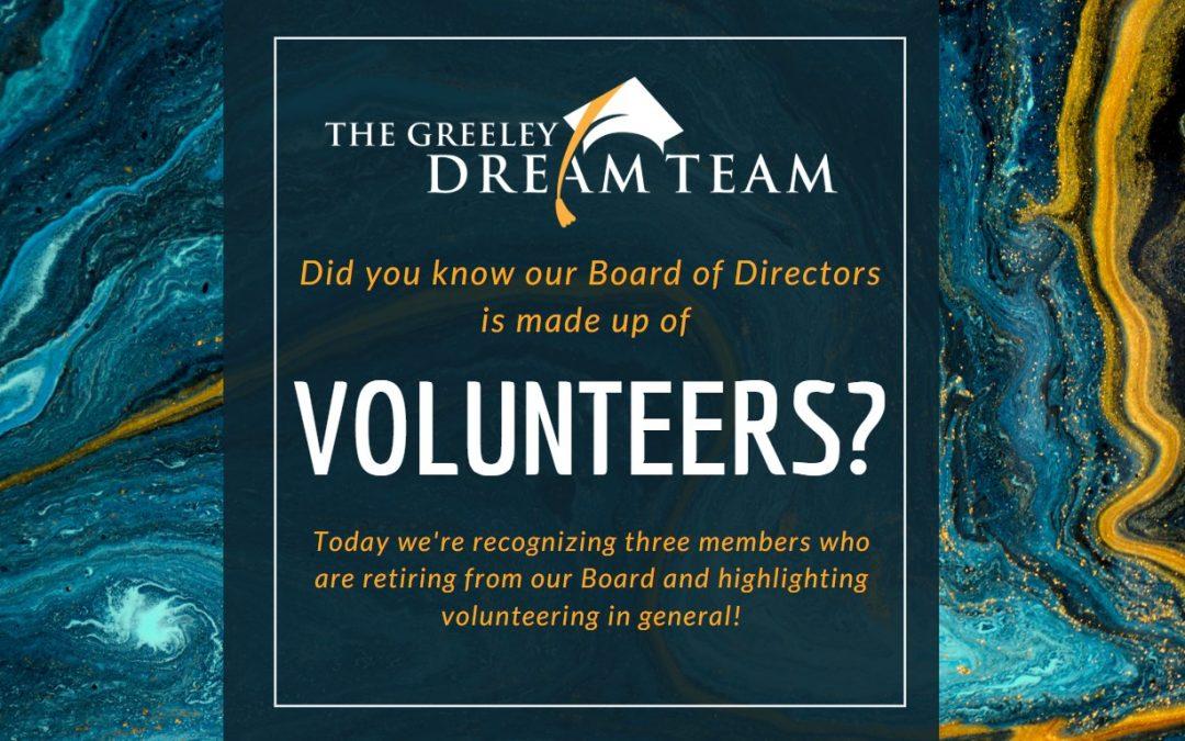 Board Members are Volunteers!