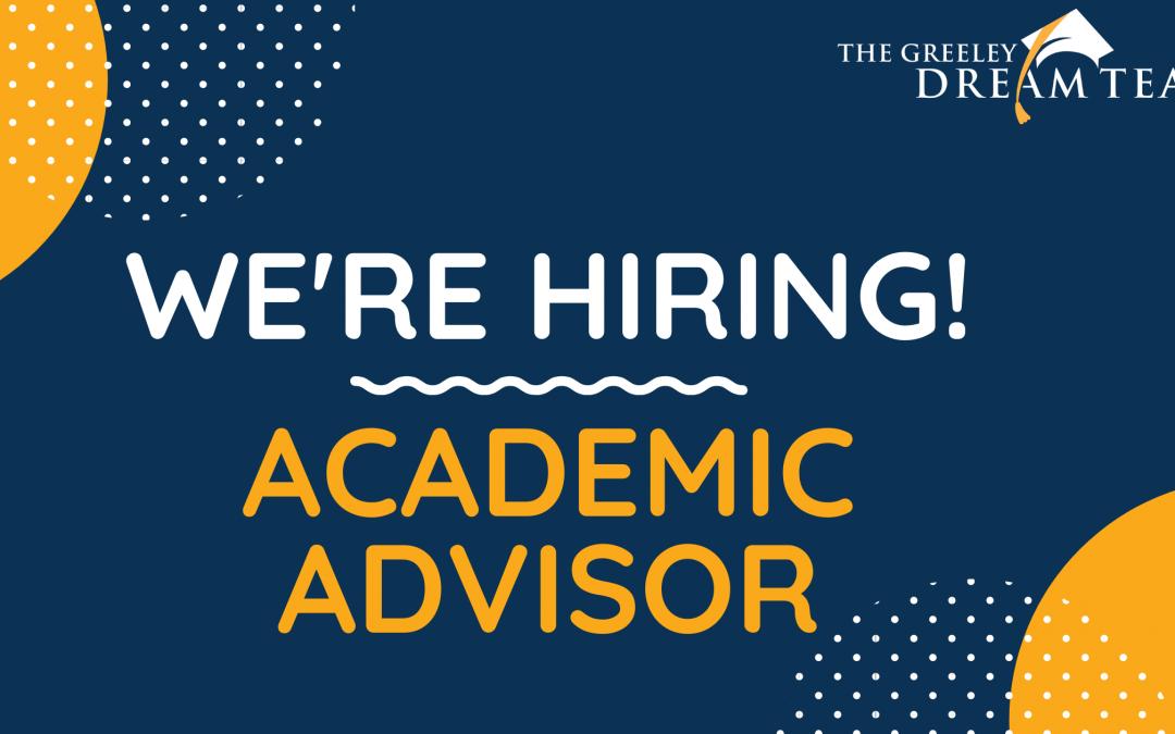 We are Hiring an Academic Advisor!