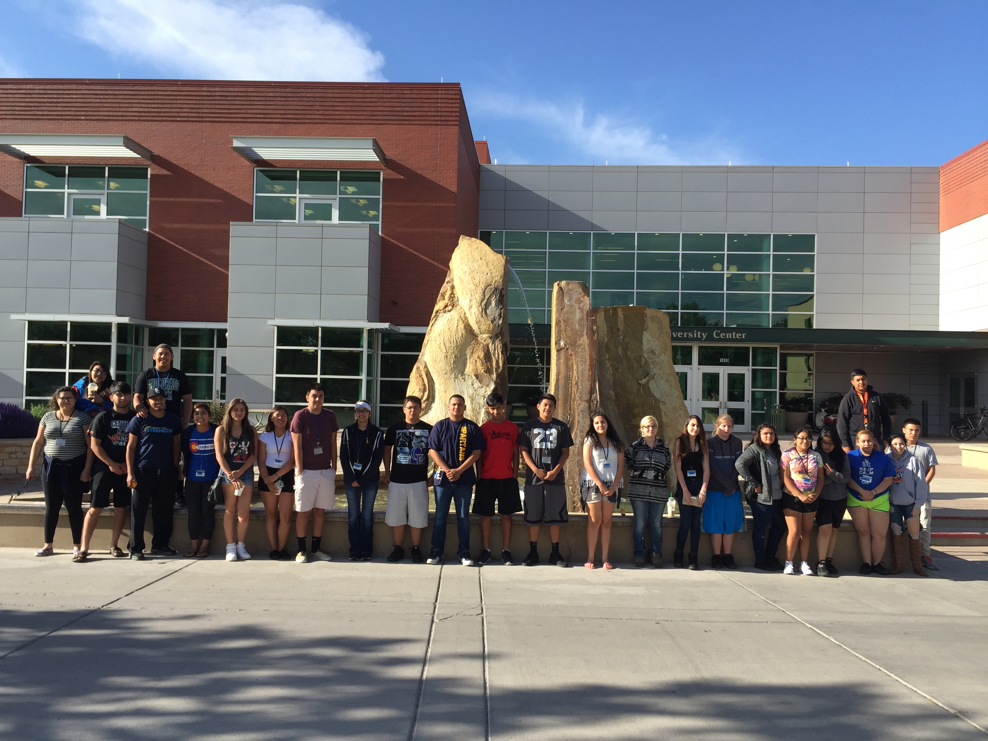 Michelle (6th from the left!) and her peers on a field trip to Colorado Mesa University