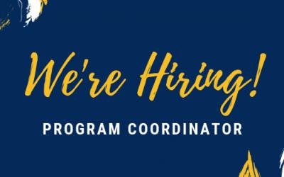 We're Hiring a Program Coordinator!