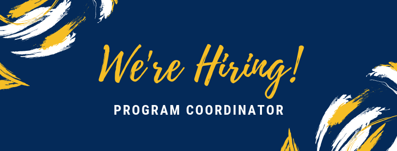 We're Hiring a Program Coordinator!